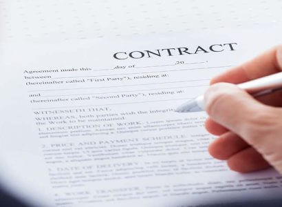 contract and a pen